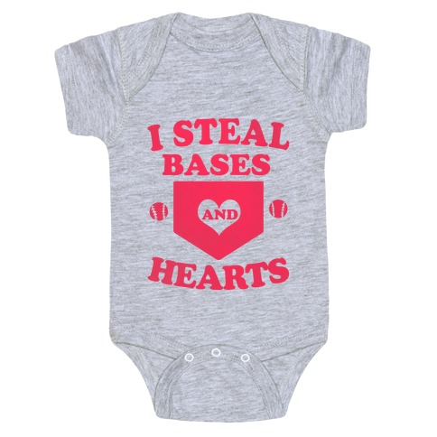 I Steal Bases (and Hearts) Baby Onesy