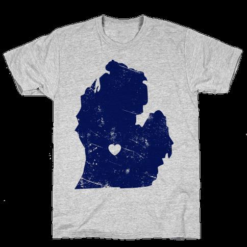 Michigan Heart Mens T-Shirt