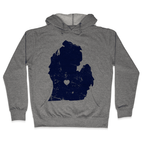 Michigan Heart Hooded Sweatshirt