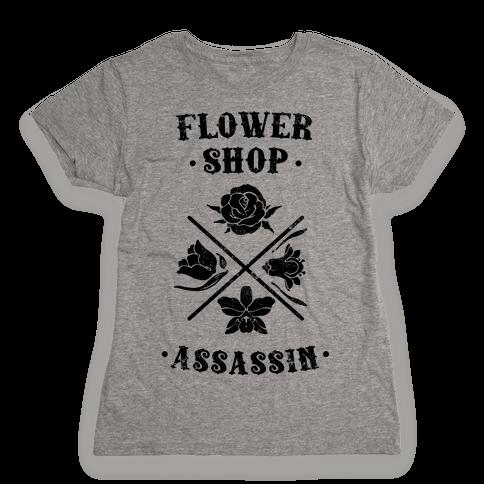 Flower Shop Assassin (Vintage) Womens T-Shirt