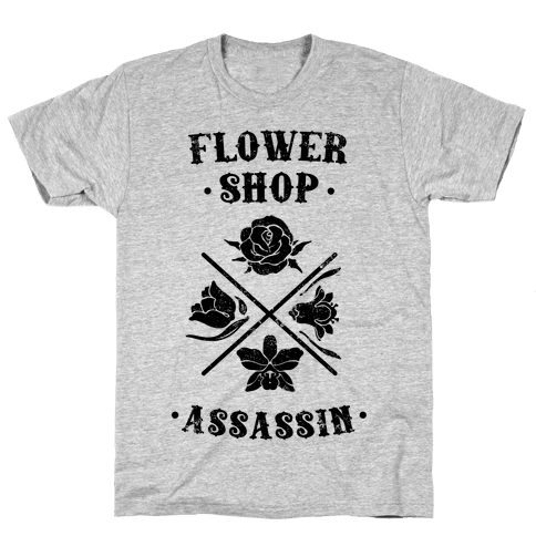 Flower Shop Assassin (Vintage) Mens T-Shirt