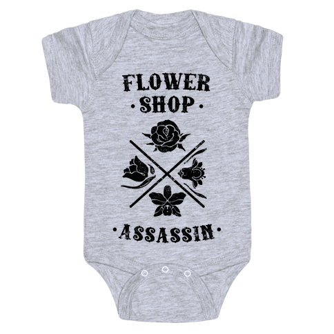 Flower Shop Assassin (Vintage) Baby Onesy