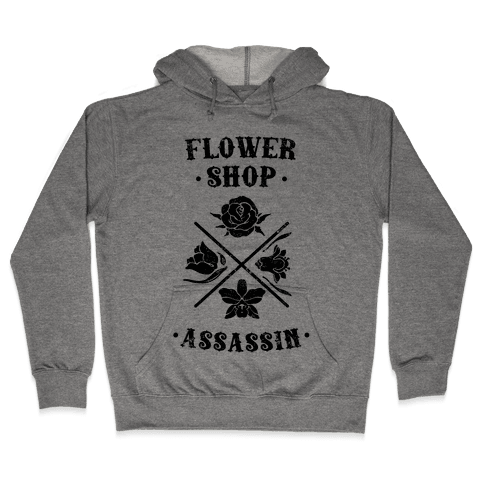 Flower Shop Assassin (Vintage) Hooded Sweatshirt
