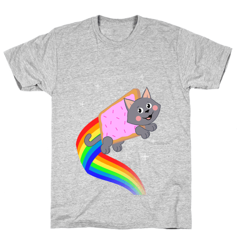 Rainbow Pastry Cat Mens T-Shirt