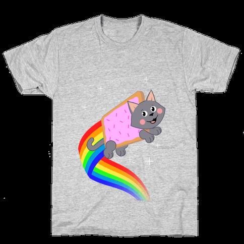 Rainbow Pastry Cat Mens T-Shirt