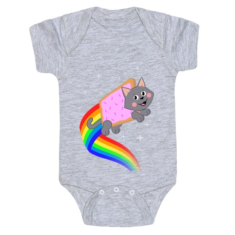 Rainbow Pastry Cat Baby Onesy