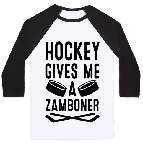 Hockey Gives Me A Zamboner Baseball Tee