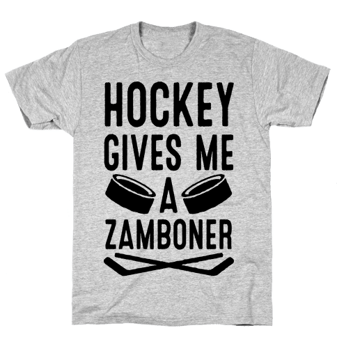 Hockey Gives Me A Zamboner Mens T-Shirt