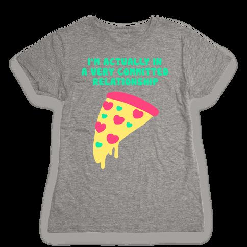 Pizza Relationship Womens T-Shirt