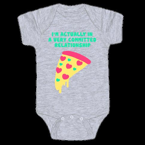 Pizza Relationship Baby Onesy