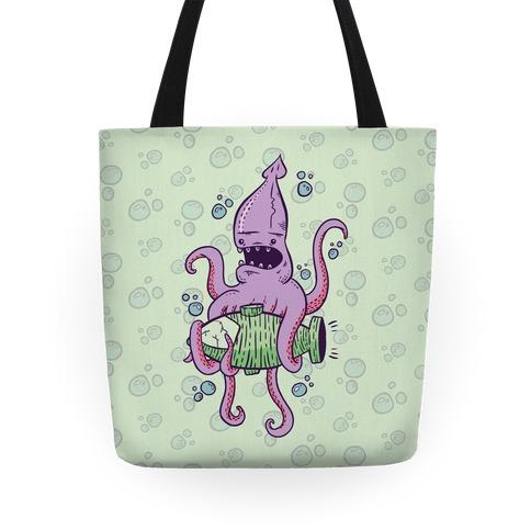 Squid Attack Tote