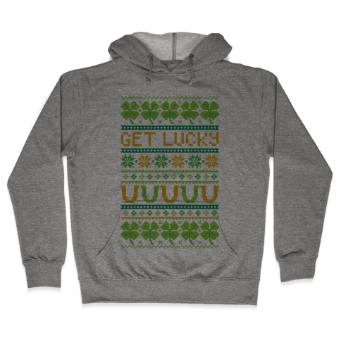 St. Patrick's Day Ugly Sweater Hooded Sweatshirt