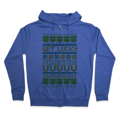 St. Patrick's Day Ugly Sweater Zip Hoodie
