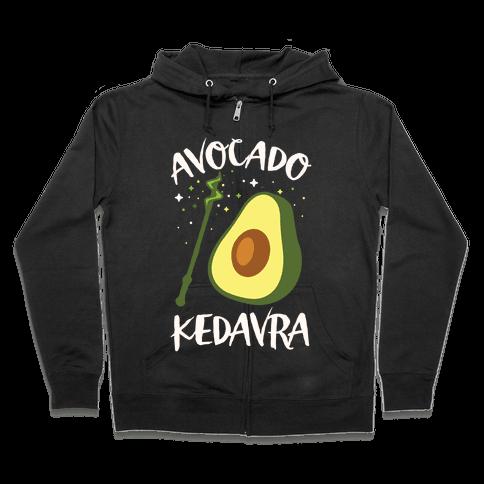 Avocado Kedavra Zip Hoodie