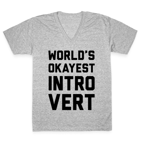 World's Okayest Introvert V-Neck Tee Shirt