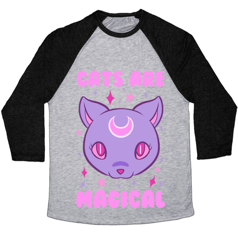 Cats Are Magical Baseball Tee