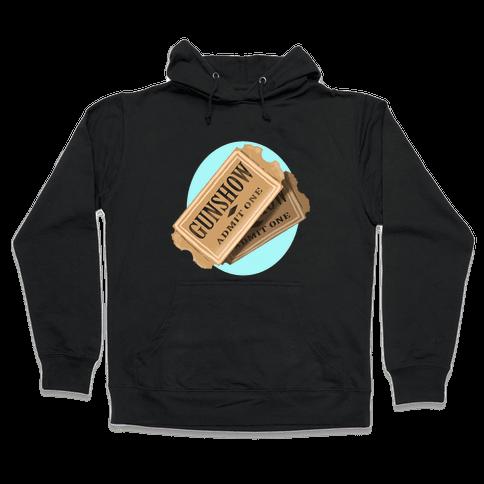One Ticket to the gun show, please (Tank) Hooded Sweatshirt