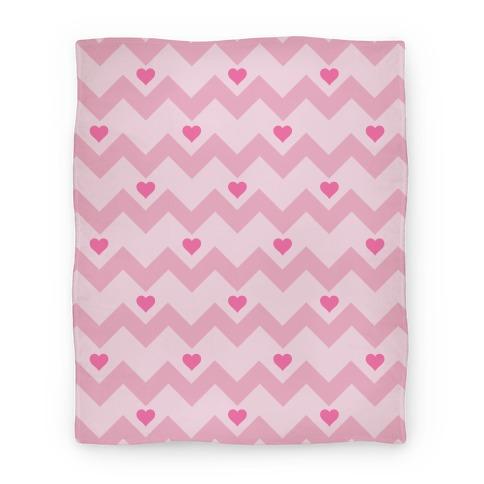 Chevron Heart Blanket Blanket