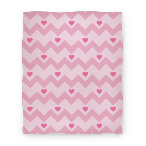 Chevron Heart Blanket Blanket