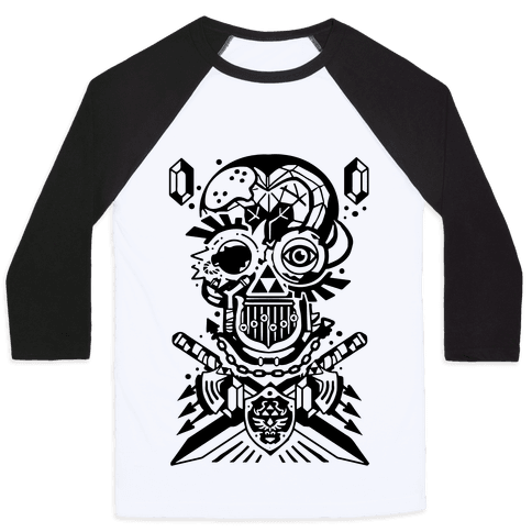 Legend Of Zelda skull Baseball Tee