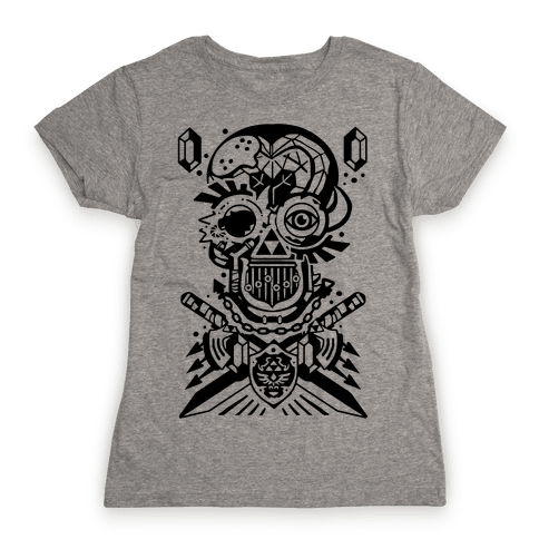 Legend Of Zelda skull Womens T-Shirt