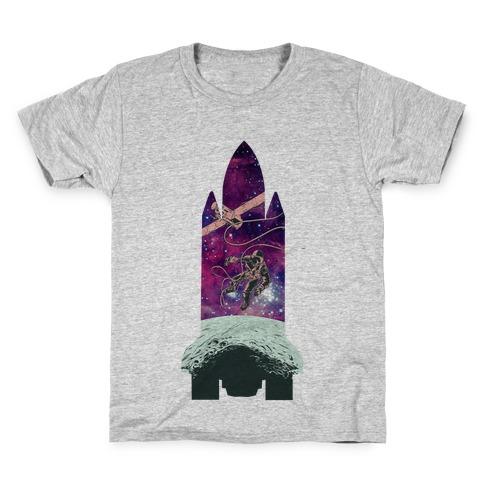 Galactic Space Vignette Kids T-Shirt