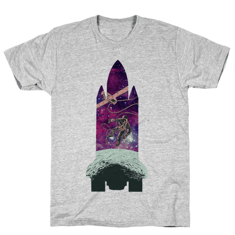 Galactic Space Vignette Mens T-Shirt