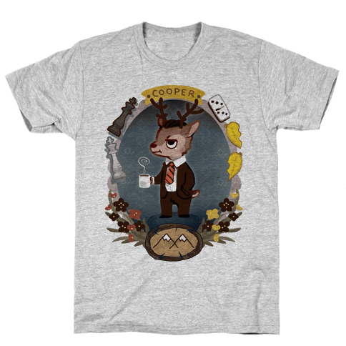 Agent Cooper Deer Mens T-Shirt