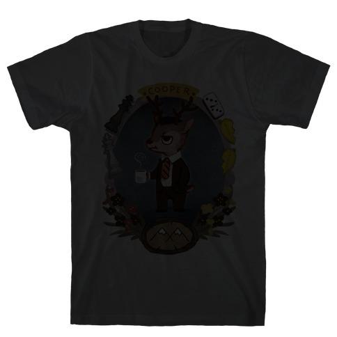 Agent Cooper Deer Mens T-Shirt