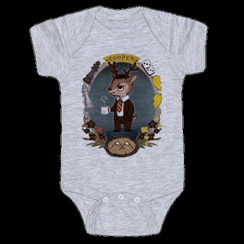 Agent Cooper Deer Baby Onesy
