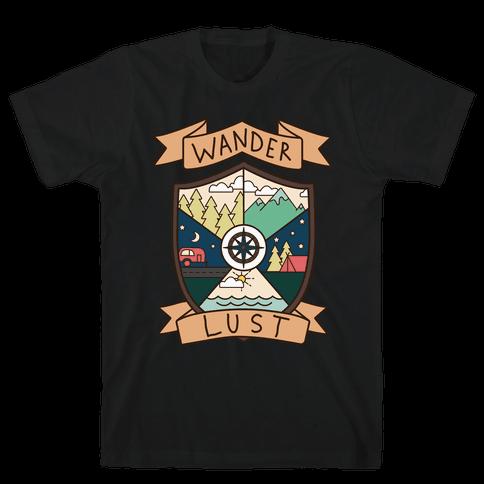 Wanderlust Crest Mens T-Shirt
