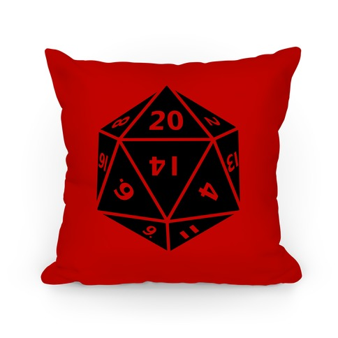 D20 Die Pillow