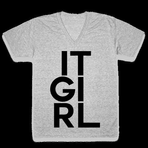 It Girl V-Neck Tee Shirt