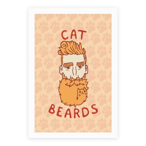 Ginger Cat Beards Poster