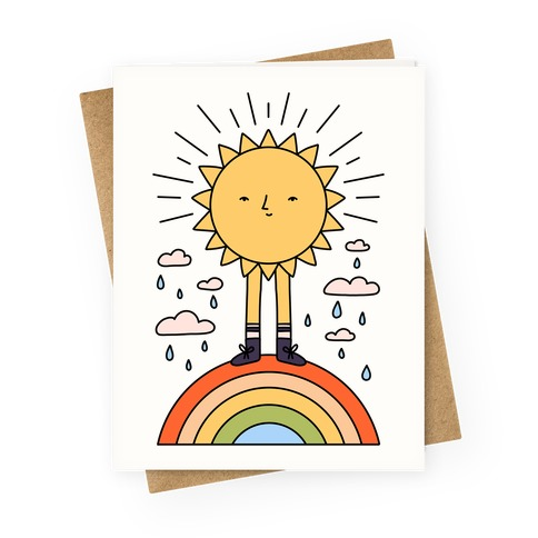 Solar Power Rainbow Greeting Card