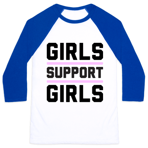 Girls Support Girls Baseball Tee
