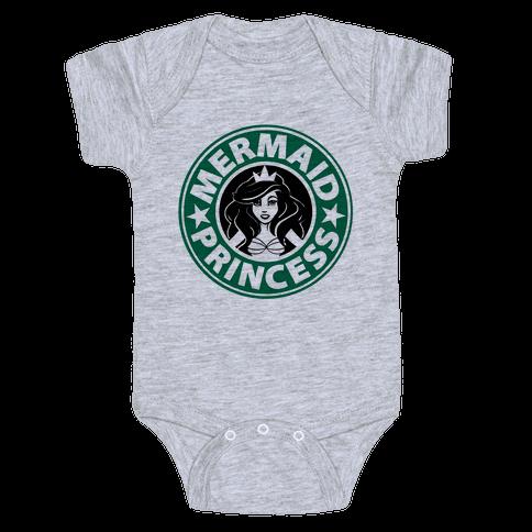 Mermaid Princess Coffee Baby Onesy