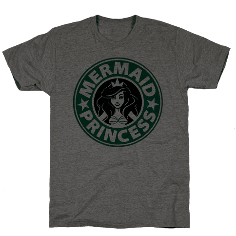 Mermaid Princess Coffee Mens T-Shirt