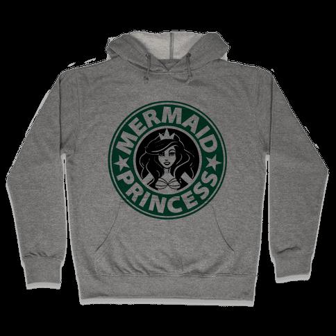 Mermaid Princess Coffee Hooded Sweatshirt