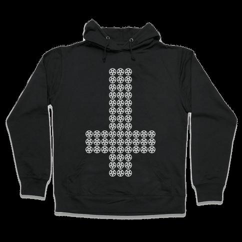 Pentagram Cross Hooded Sweatshirt