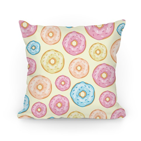 Donut Pattern Pillow