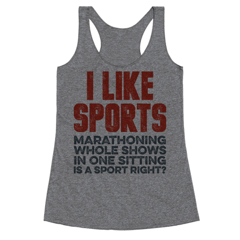 I Like Sports Racerback Tank Top