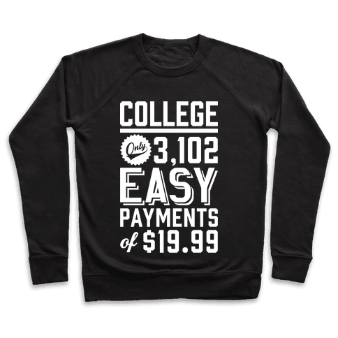 College Only 3,102 East Payments Of $19.99 Pullover