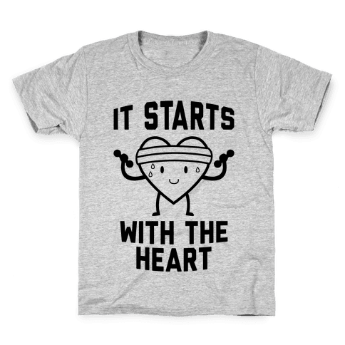 It Starts With The Heart Kids T-Shirt