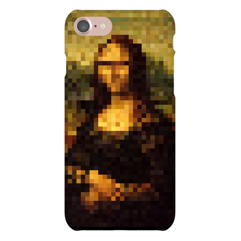 Pixel Mona Lisa Phone Case