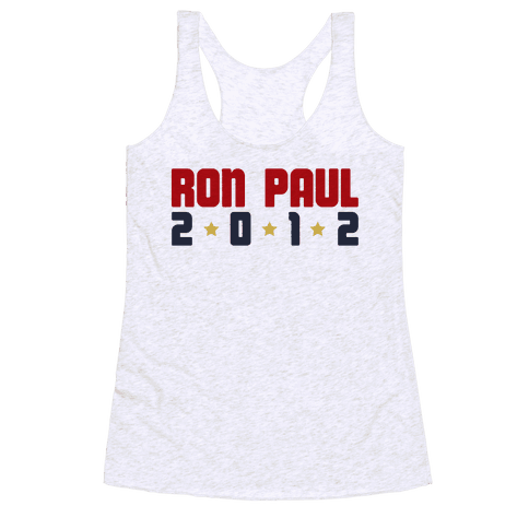 I Want Ron Paul! Racerback Tank Top