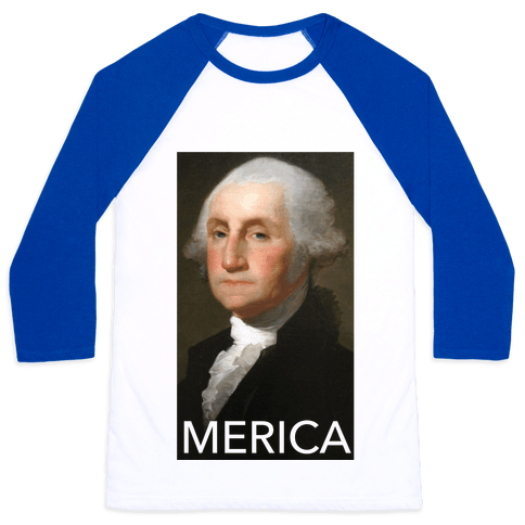 Washington's Merica Baseball Tee
