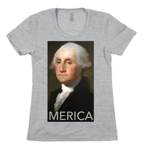 Washington's Merica Womens T-Shirt
