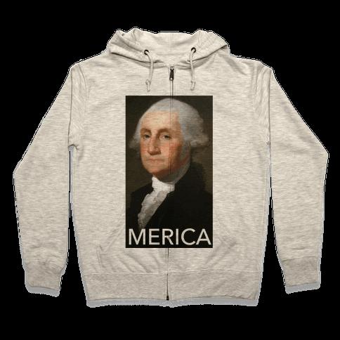 Washington's Merica Zip Hoodie