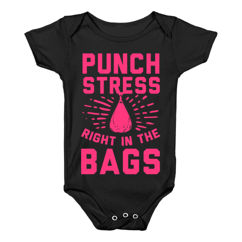 Punch Stress in The Bags! Baby Onesy